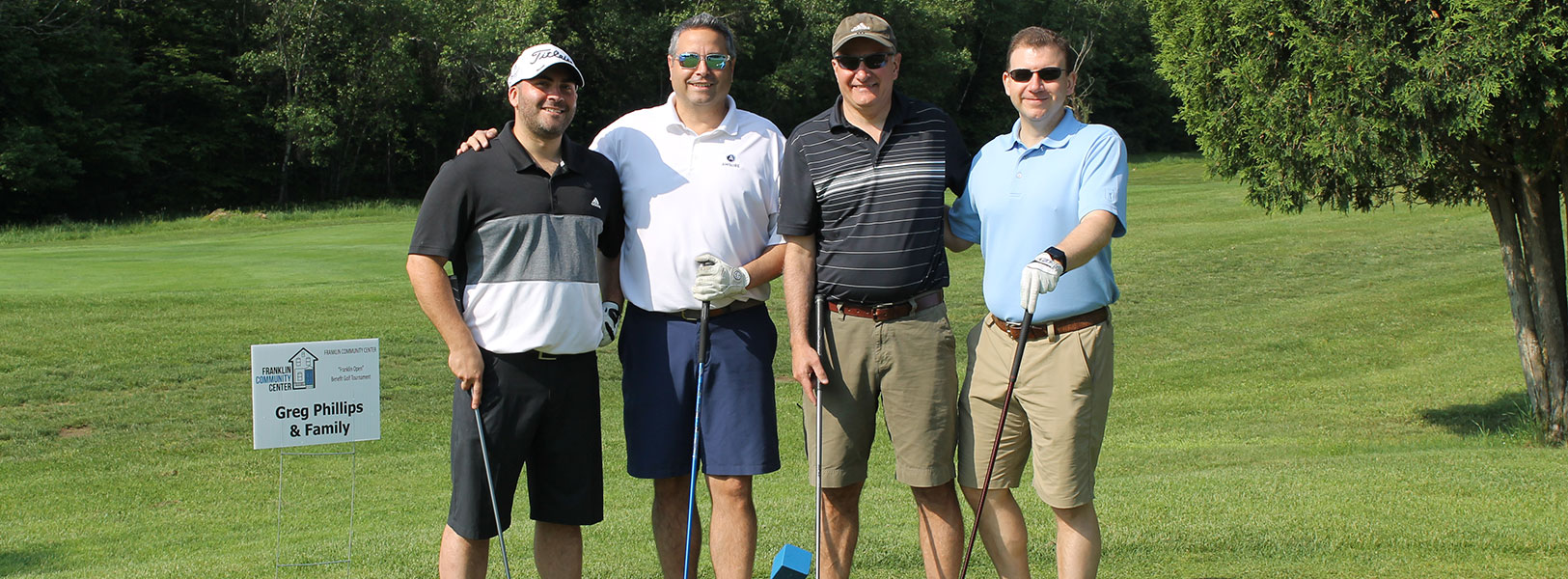 Foursome of Golfers at the Frankin Community Center's Annual Golf Tournament & Fundraiser